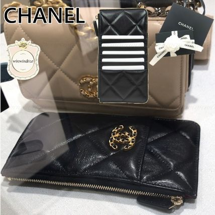 CHANEL Leather Card Holders