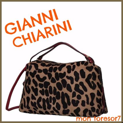 Leopard Patterns Casual Style 2WAY Leather Crossbody