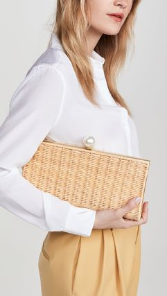 Casual Style Plain Elegant Style Clutches