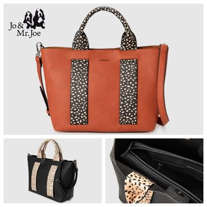 Casual Style Faux Fur Other Animal Patterns Office Style