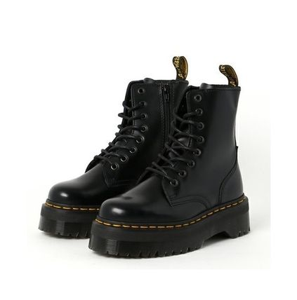 Dr Martens Unisex Studded Street Style Mid Heel Boots