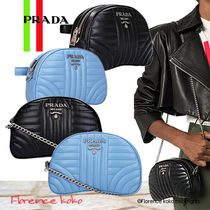 PRADA DIAGRAMME Casual Style Calfskin 2WAY Chain Plain Party Style