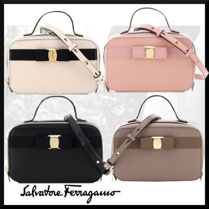 Casual Style Street Style Plain Leather Logo Shoulder Bags