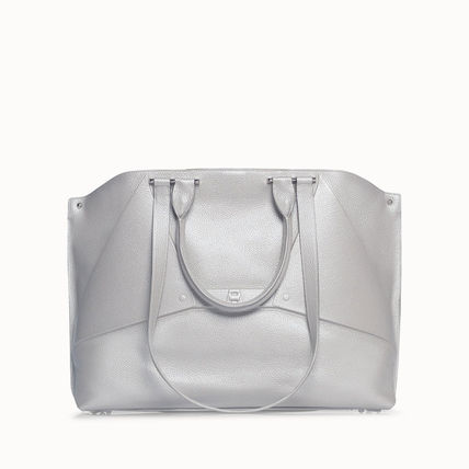 Casual Style Calfskin 3WAY Plain Leather Office Style