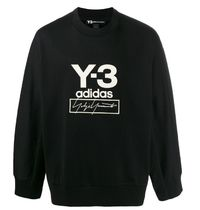 Y-3 Plain Cotton Logo Designers Sweatshirts