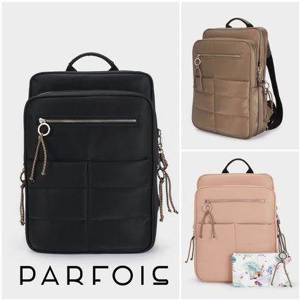 Casual Style 2WAY Plain Office Style Backpacks