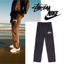 Nike AIR FORCE 1 Tapered Pants Unisex Sweat Nylon Street Style Collaboration