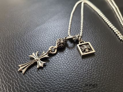 CHROME HEARTS CH CROSS Silver Necklaces & Chokers