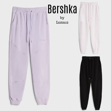 Bershka Casual Style Plain Cotton Pants