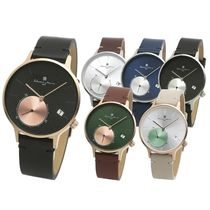Salvatore Marra Casual Style Unisex Round Quartz Watches Office Style