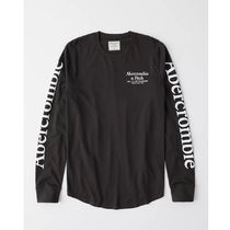 Abercrombie & Fitch Crew Neck Long Sleeves Cotton Long Sleeve T-shirt Surf Style