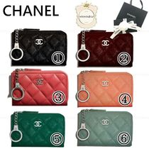 CHANEL Leather Keychains & Bag Charms