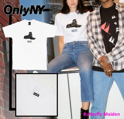 ONLY NY More T-Shirts Street Style Collaboration Cotton Logo Skater Style T-Shirts