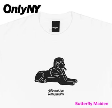 ONLY NY More T-Shirts Street Style Collaboration Cotton Logo Skater Style T-Shirts 3