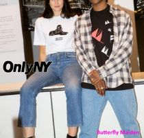 ONLY NY More T-Shirts Street Style Collaboration Cotton Logo Skater Style T-Shirts 7