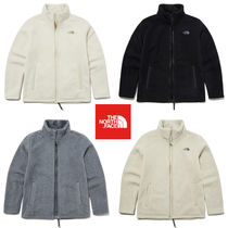 THE NORTH FACE Casual Style Unisex Blended Fabrics Plain Medium Shearling