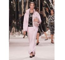 CHANEL Casual Style Blended Fabrics Plain Medium Party Style