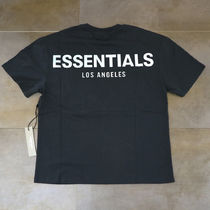 FEAR OF GOD ESSENTIALS Crew Neck Street Style Cotton Short Sleeves Oversized