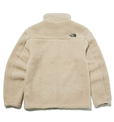 THE NORTH FACE RIMO Unisex Street Style Shearling Logo Fleece Jackets Outerwear