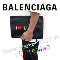 BALENCIAGA EVERYDAY TOTE Unisex Logo Clutches