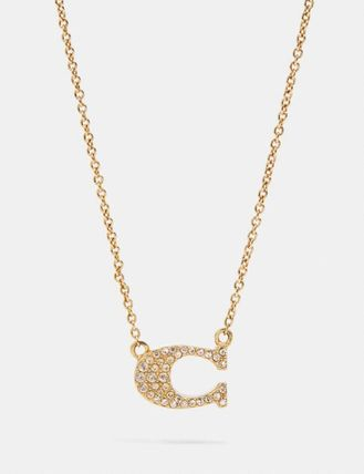 Coach Pave Signature Necklace
