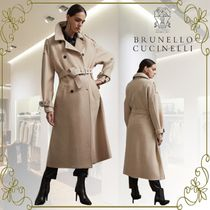 BRUNELLO CUCINELLI Casual Style Cashmere Plain Long Office Style Elegant Style