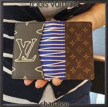 Louis Vuitton MONOGRAM Monogram Unisex Calfskin Canvas Street Style Bi-color