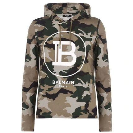 Pullovers Camouflage Long Sleeves Cotton Luxury Hoodies