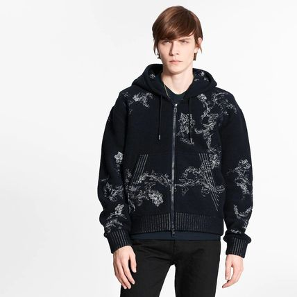 Louis Vuitton Embroidered Lv Flower Zip-Through Hoodie
