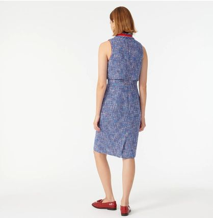 Casual Style Tweed Sleeveless Party Style Office Style
