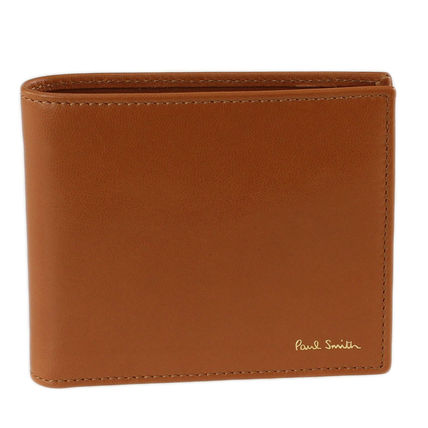 Paul Smith Plain Leather Folding Wallet Logo Folding Wallets