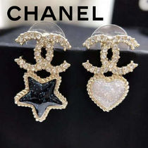 CHANEL Street Style Elegant Style Earrings