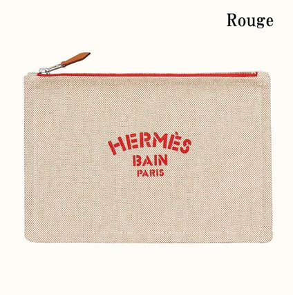 HERMES Yachting Plain Logo Clutches