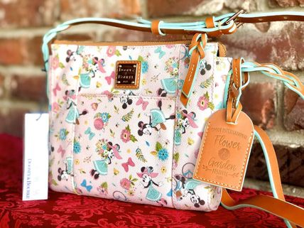 Crossbody Flower Patterns Casual Style Collaboration Leather