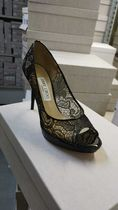 Jimmy Choo Open Toe Pin Heels Party Style Elegant Style Formal Style