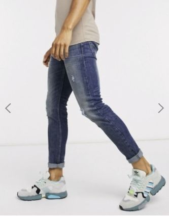 Blended Fabrics Street Style Plain Cotton Skinny Jeans