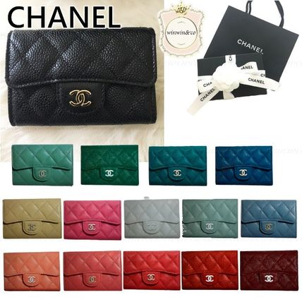 CHANEL Lambskin Card Holders
