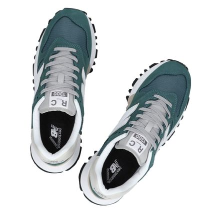 Unisex Blended Fabrics Street Style Leather Dad Sneakers