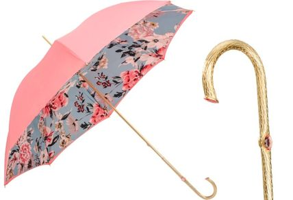Pasotti Flower Patterns Handmade Logo Umbrellas & Rain Goods