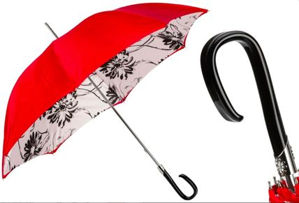 Pasotti Logo Flower Patterns Handmade Umbrellas & Rain Goods