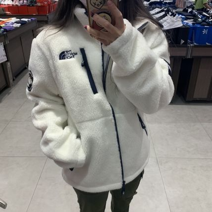 THE NORTH FACE RIMO Casual Style Unisex Street Style Logo Fleece Jackets Jackets