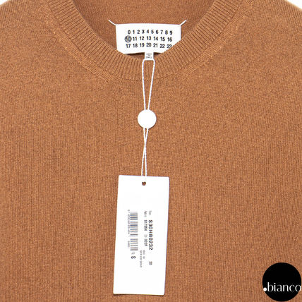 Maison Margiela Sweaters Crew Neck Pullovers Cashmere Street Style Bi-color 3