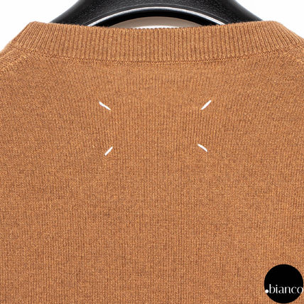 Maison Margiela Sweaters Crew Neck Pullovers Cashmere Street Style Bi-color 5