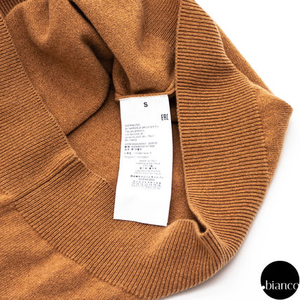 Maison Margiela Sweaters Crew Neck Pullovers Cashmere Street Style Bi-color 7
