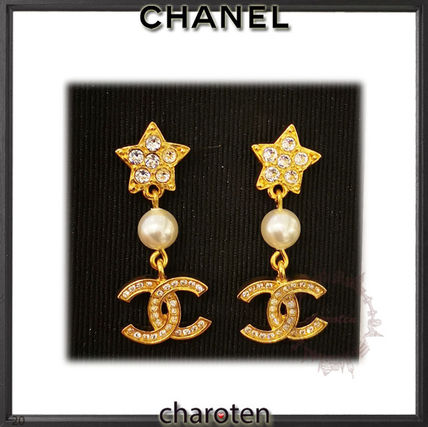 CHANEL ICON Costume Jewelry Star Casual Style Blended Fabrics