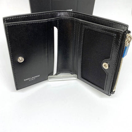 Unisex Plain Leather Folding Wallet Folding Wallets
