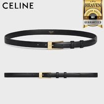 CELINE Elegant Belt With Rectangular Buckle In Smooth Calfskin