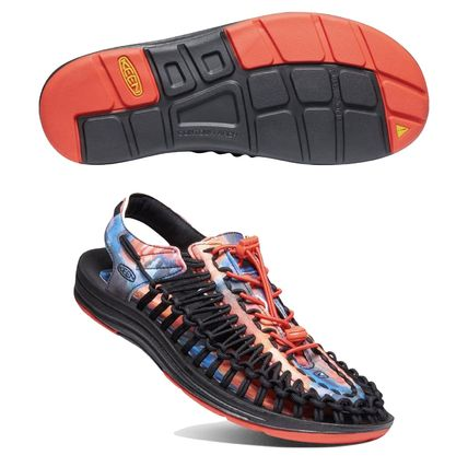 Tropical Patterns Round Toe Rubber Sole Casual Style