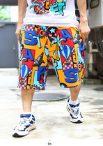 Staple More Shorts Printed Pants Tropical Patterns Unisex Street Style 4