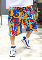 Staple More Shorts Printed Pants Tropical Patterns Unisex Street Style 5